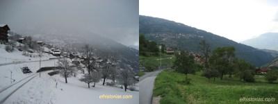 Euseigne, invierno vs. verano