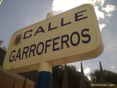 Calle Garroferos, en San Javier