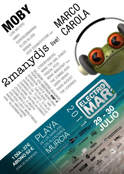 Cartel del Electromar Festival 2011