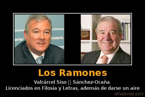 Valcárcel Siso y Sánchez-Ocaña; licenciados en Filosía y Letras, además de darse un aire