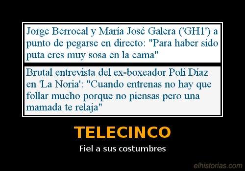 Telecinco. Fiel a sus costumbres