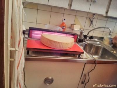 Calentando el queso
