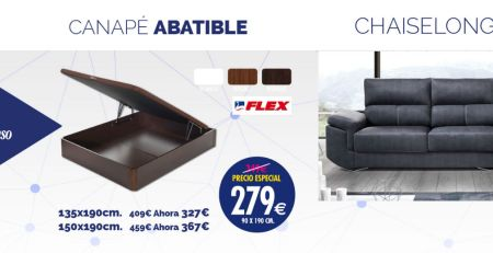 Canapé Flex y Chaiselongue