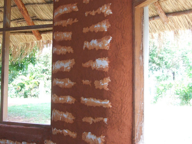 Picture of Earthen Plaster on Interior Walls