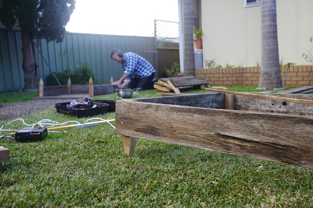 How to Make Garden Beds from Scrap Timber