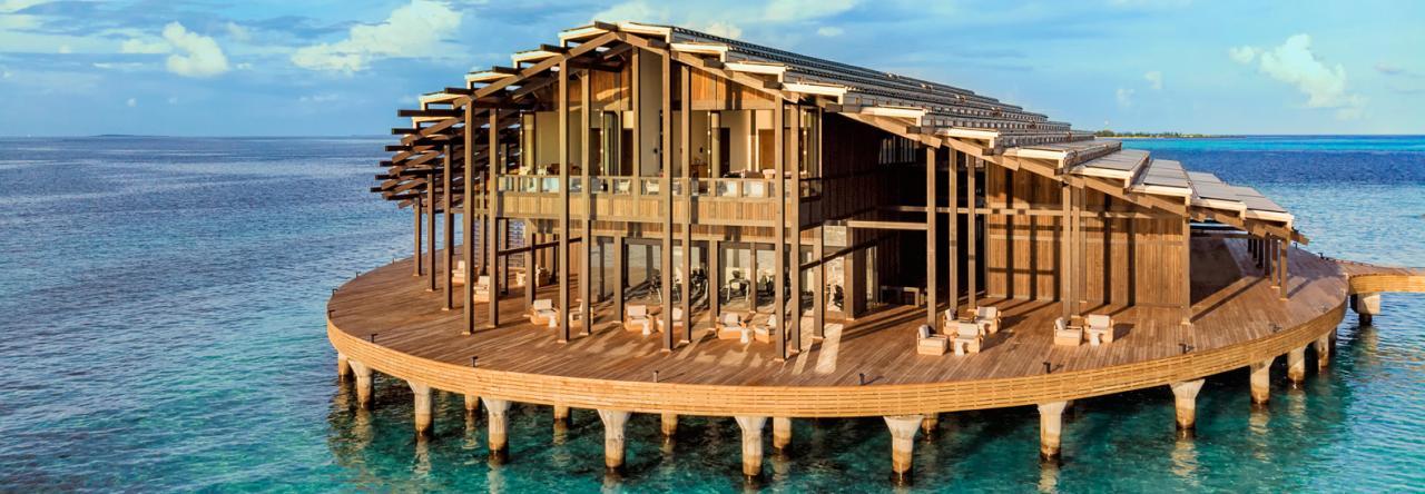Resort privado flotante en las Maldivas es 100% abastecido por el sol