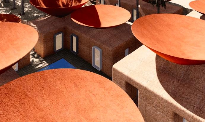 Diseño techo cóncavo