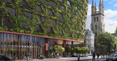 El muro verde más grande de Europa absorberá 8 toneladas de contaminación atmosférica por año.