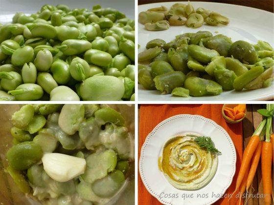 Hummus de habas_proceso