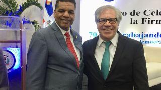 Secretario general de la OEA recibe al secretario general del PHD en el 70 aniversario de la OEA.
