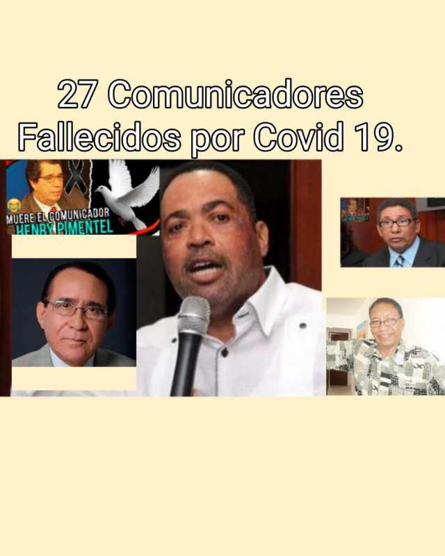 SNTP señala 27 comunicadores dominicanos han fallecido a consecuencias de Covid-19.