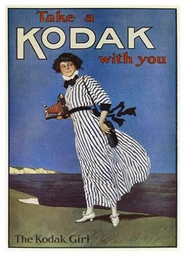 """Reprodução do poster """"The Kodak girl"""""""