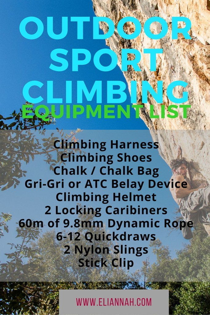 Sport Climbing Equipment List