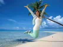 Elianne op het strand