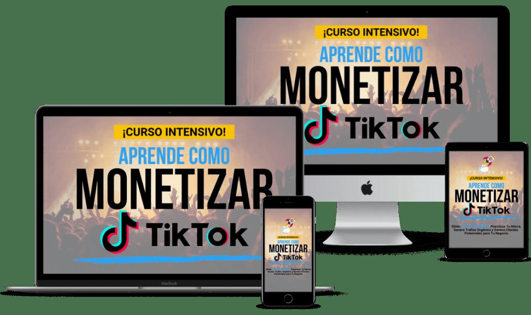Mockup del curso monetizar TikTok