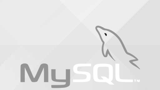 mysql logo over gray ubuntu wallpaper