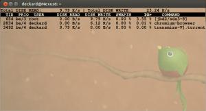 iotop -o Captura de tela de 2013-03-17 10:38:03
