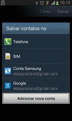 Nao consigo adicionar uma conta do google no meu android