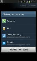Contatos Android - Adicionar nova conta Google