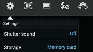 Silenciar som da câmera no menu de configurações do Galaxy S3