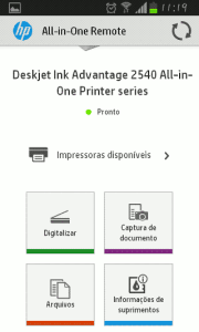 Android - HP All In One - aplicativo para imprimir