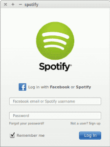 Spotify, Linux, Ubuntu, Debian, Multimidia, screenshot, captura de tela