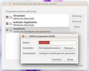 Ubuntu - configurar aplicativos de sessão