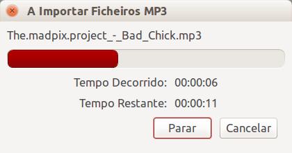 Audacity - importar arquivo de audio mp3