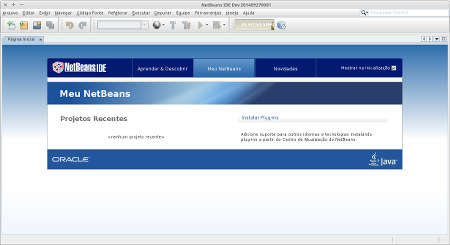 Captura de tela do netbeans