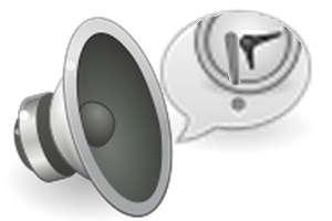 ícone de alto falante.