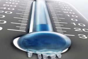 Termômetro congelado