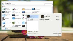 Captura de tela da configuração do XFCE