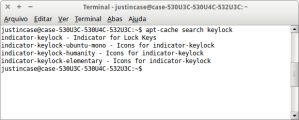apt-cache search keylock