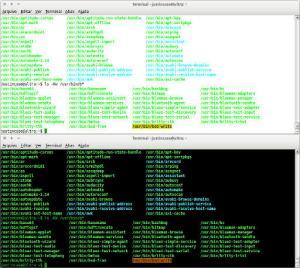 Captura de tela da listagem do diretório