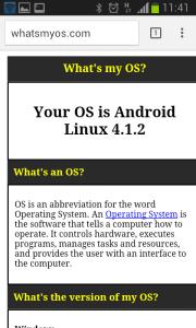 Versão do Linux Android