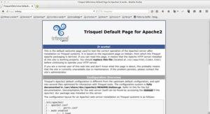 página padrão do Apache no Trisquel Linux