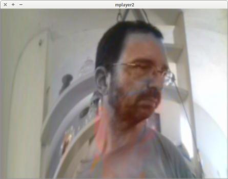 captura de tela do mplayer webcam