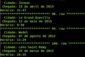 captura de tela mysql formato de data e hora