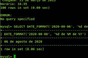 Como configurar o MySQL para exibir datas em português