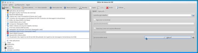 kde - tecla de atalho para Firefox