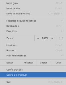Menu de confuguração do Google Chrome - by Elias Praciano