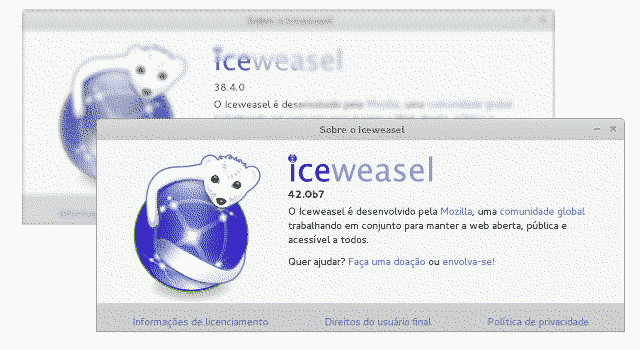 Iceweasel help software version