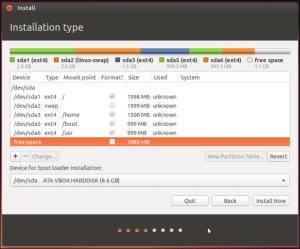 Ubuntu Partitioning Installer