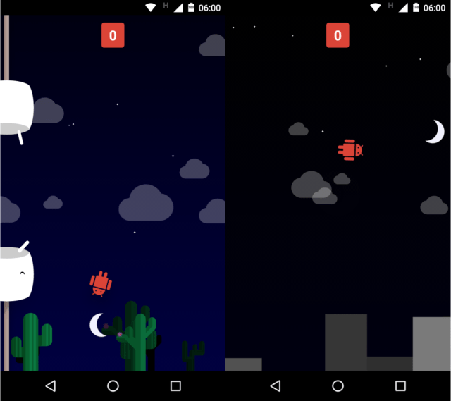 Android Marshmallow - easter egg - flappy bird - game