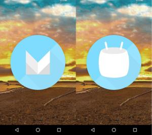 Android Marshmallow 6.0 - initial screen