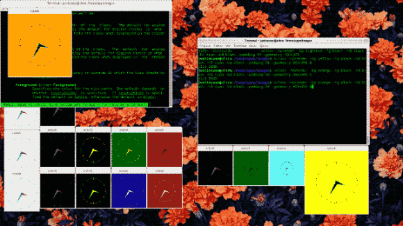 screenshot xclock UNIX and LINUX