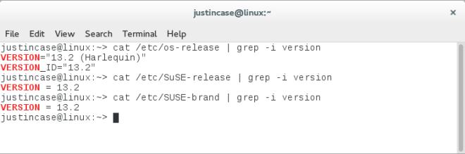 como obter a versão do openSUSE
