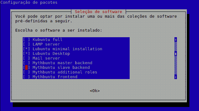 tasksel in Lubuntu