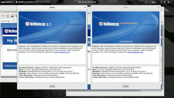 captura de tela netbeans 8 and nightly