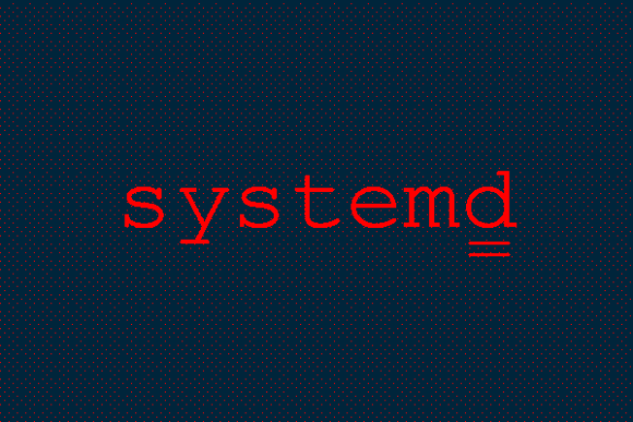 systemd logo in red